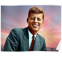 Colorized John F. Kennedy Poster