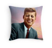 Colorized John F. Kennedy Throw Pillow