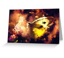 abstract butterfly insect flowers Greeting Card