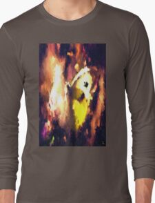 abstract butterfly insect flowers Long Sleeve T-Shirt