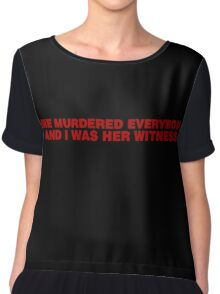 Beyonce - Lemonade - 'She murdered everybody and I was her witness' Chiffon Top