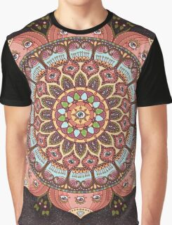 A Cosmic Flowering Graphic T-Shirt