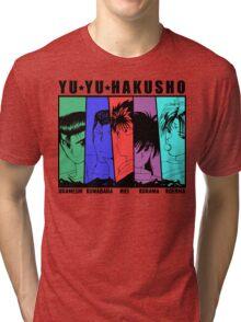 Yu Yu Hakusho - Urameshi, Kuwabara, Hiei, Kurama, Koenma Tri-blend T-Shirt