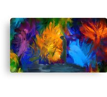 Portrait abstract expressionist nature  Canvas Print