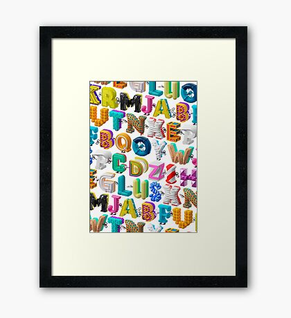 The Alphabet is your Playground Framed Print