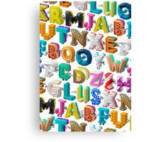 The Alphabet is your Playground Canvas Print