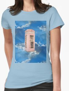 pink phone booth Womens Fitted T-Shirt