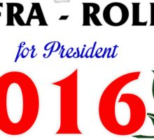 Biafra/Rollins for President 2016 Sticker
