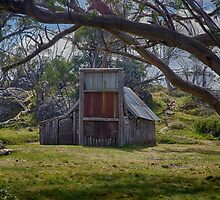 Wallaces Hut, Falls Creek by Bevlea Ross