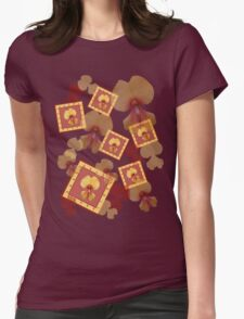 Pea Flower 1 Womens Fitted T-Shirt