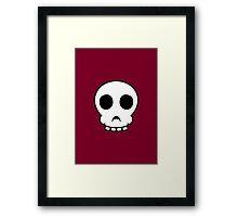 Goofy skull Framed Print