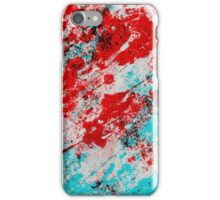 Red Fury - Abstract In Blue And Red iPhone Case/Skin