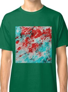 Red Fury - Abstract In Blue And Red Classic T-Shirt