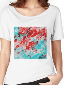 Red Fury - Abstract In Blue And Red Women's Relaxed Fit T-Shirt