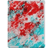 Red Fury - Abstract In Blue And Red iPad Case/Skin
