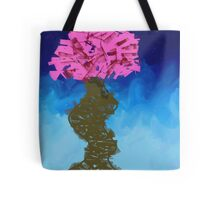 Nature Abstract Expressionist Graffiti Cherry Blossom Tree Tote Bag