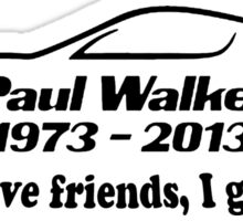 Paul Walker R.I.P Sticker