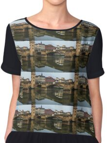 Postcard from Florence  Chiffon Top
