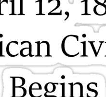 American Civil War Sticker