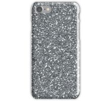 Silver Glitter Sparkles Texture Photography iPhone Case/Skin