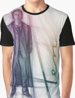 The Tenth Doctor Doctor Who Colorful Sketch Graphic T-Shirt