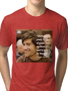 Information quote by Aaron Swartz Tri-blend T-Shirt