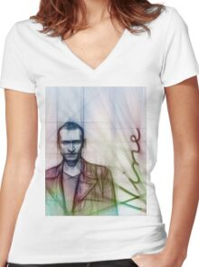 The Ninth Doctor, Doctor Who Chris Eccleston  Women's Fitted V-Neck T-Shirt