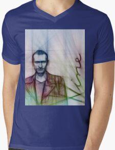 The Ninth Doctor, Doctor Who Chris Eccleston  Mens V-Neck T-Shirt
