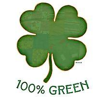 Irish Shamrock - 100% Green Photographic Print