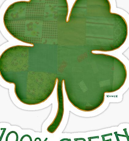 Irish Shamrock - 100% Green Sticker