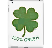 Irish Shamrock - 100% Green iPad Case/Skin