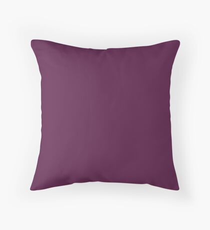 Grape Red Solid Color Decor Throw Pillow