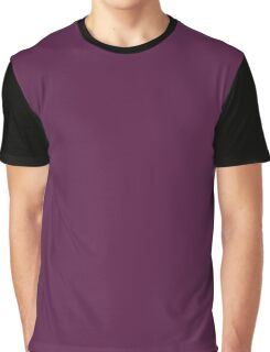 Grape Red Solid Color Decor Graphic T-Shirt