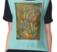 FIRST ABSTRACT Chiffon Top