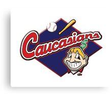 Baseball T-shirt,Caucasians Canvas Print