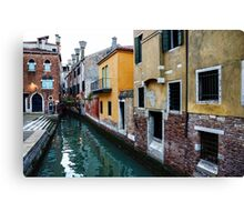 Impressions of Venice - Fabulous Distinctive Chimneys and Charming Bridges Canvas Print