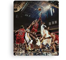 Chicago Golden State Sports Basketball Art Canvas Print