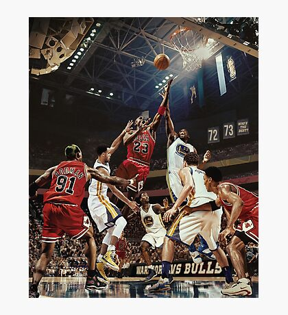 Chicago Golden State Sports Basketball Art Photographic Print