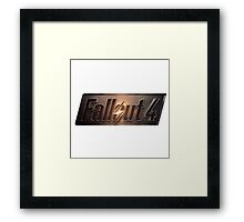 Fallout 4 | Logo | White Background | High Quality Framed Print