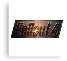 Fallout 4 | Logo | White Background | High Quality Canvas Print