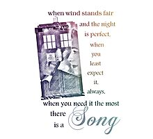 There is a Song, Doctor Who, Husbands of River Song Photographic Print