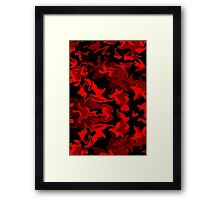 Red Hot Camo Framed Print