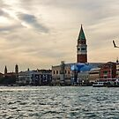 Impressions of Venice - Approaching St Marks on the Vaporetto by Georgia Mizuleva