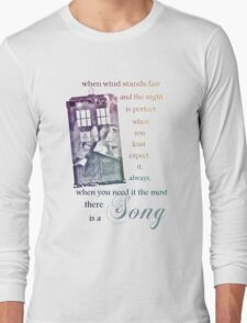 There is a Song, Doctor Who, Husbands of River Song Long Sleeve T-Shirt