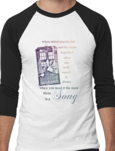 There is a Song, Doctor Who, Husbands of River Song Men's Baseball ¾ T-Shirt