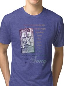 There is a Song, Doctor Who, Husbands of River Song Tri-blend T-Shirt
