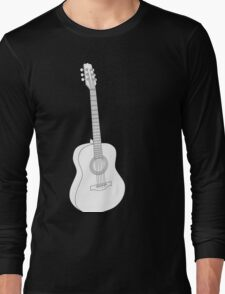 White Acoustic Long Sleeve T-Shirt