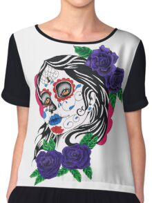 day of the dead girl Chiffon Top