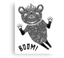 Boom Bear Canvas Print