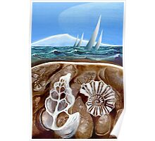 The Geology of Boating - Rangitoto Island Poster